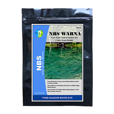NBS WARNA 1PACK Pond Natural Color Dye Treats Up To 50,000L Pond Lake Shadow Dye