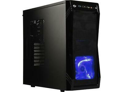 Rosewill Computer Case - ATX Mid Tower - Black, Gaming - Three Included Fans - T