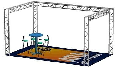 Global Truss F33 U - Messestand 6,0x4,0x2,5m