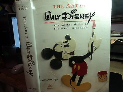 1973-THE ART OF WALT DISNEY BY CHRISTOPHER FINCH-FIRST EDITION-BY HARRY ABRAMS