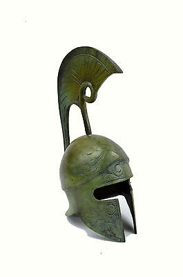 Ancient Greek Helmet bronze anthemion and high lambrequin artifact