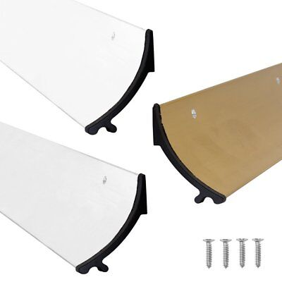 Stormguard RAIN DEFLECTOR Door Drip Bar Weather Board Aluminium Gold White 838mm