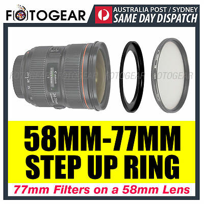 Step Up Ring 58-77mm Filter Lens Adapter 58mm-77mm AUSPOST