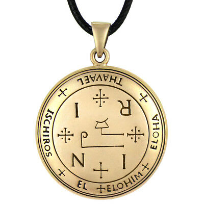 Bronze Talisman of Archangel Thavael Amulet Angel Ceremonial Magic Sigil Jewelry