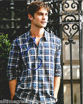 """CHACE CRAWFORD HAND SIGNED AUTHENTIC GOSSIP GIRL """"NATE"""" 8X10 PHOTO G w/COA ACTOR"""