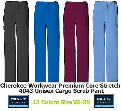 Cherokee Workwear Core Stretch 4043 Unisex Scrub Pant Pick Size/Color Ships Free