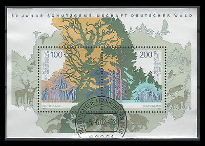 Germany Scott No. 1968   50th anniv. of Society for Protecting  Forests S/S USED