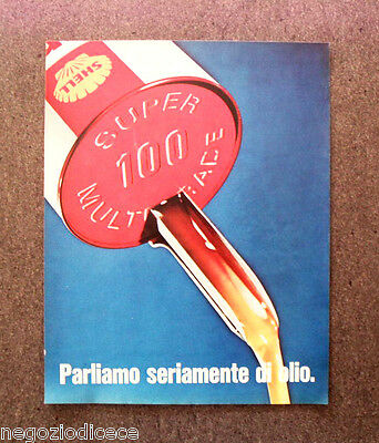 N496 - Advertising Pubblicità -1968- SHELL , SUPER 100 MULTIGRADE