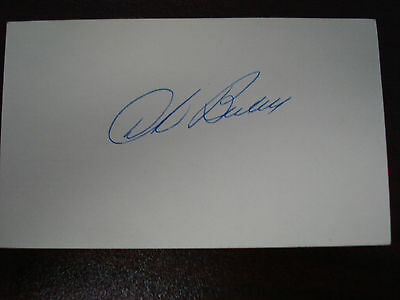 Dick Bartell Autograph Index card Rare 3X5 Signed VINTAGE MLB AUTO