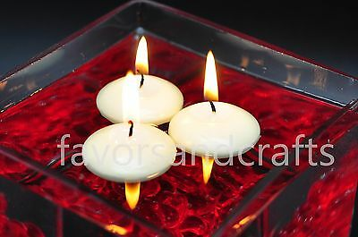 25 Floating Candles Round IVORY Floater Wedding Decorations Wax Bath Lot