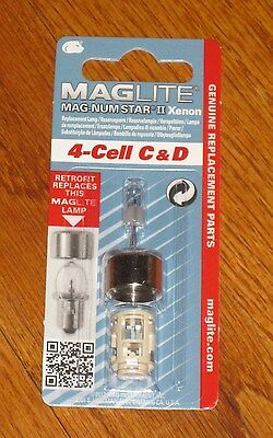 Maglite 4 Cell C & D Replacement Bulb  XENON Mag-num Star II Magnum NEW ITEM