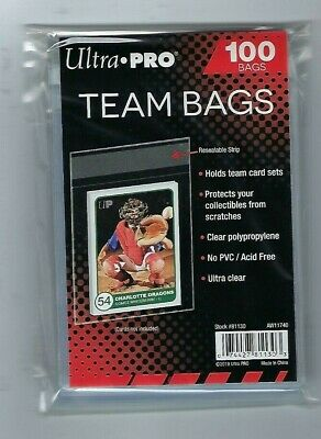 1000 Ultra Pro Team Set Bags Reseal Sleeves Holder Pack Reusable Adhesive
