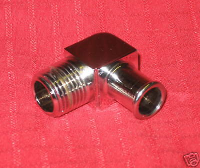 Chrome Heater Hose Fitting Degree Hose