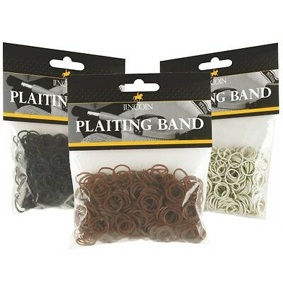 Lincoln Plaiting bands horse pony showing grooming Black Brown White
