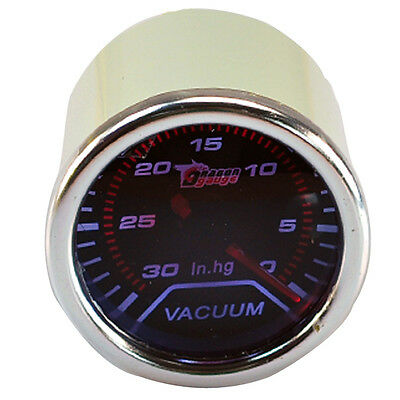 "Car Motor Pointer Smoke Tint Len 2"" 52mm Vacuum Gauge Meter In.hg Dials AB"