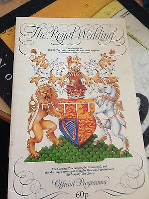 Prince Andrew and Sarah Ferguson Royal Wedding Official Programme 1986