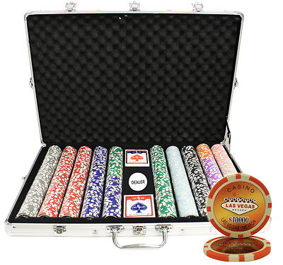 1000 14G Las Vegas Laser Casino Table Clay Poker Chips Set Custom Build