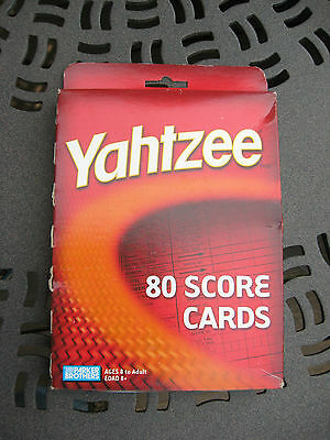 Yahtzee 80 Score Cards Replacement Refills Parker Brothers 2004 Sealed In Box!