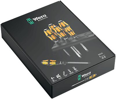Wera Tools JUNE SALE 932/6 Kraftform Impact Hammer Top Screwdriver Set PH FLAT