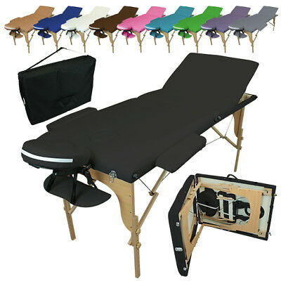 LINXOR FRANCE ® TABLE DE MASSAGE PLIANTE 3 ZONES EN BOIS / Pliable Portable