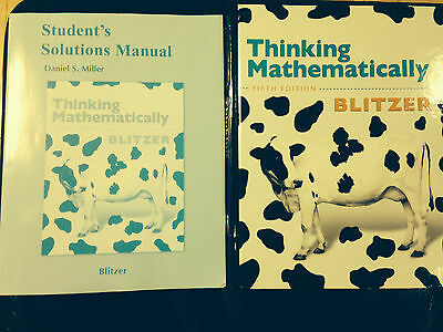 Thinking Mathematically by Robert F. Blitzer (2010, Hardcover, New Edition)