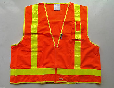 B Seen USV3 Hi Vis High Viz Visibility Waistcoat Safety Vest Jacket POCKETS ZIP