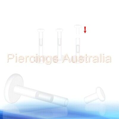 3 x Push In Top BioFlex Labret Lip Retainers Ring Monroe Body Piercing Jewellery