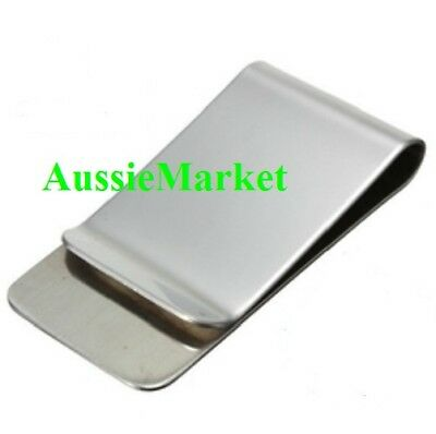 1 x money clip note card holder stainless steel mens wallet ladies purse bag new