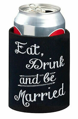 Wedding Stubby Holder Cozy Can Cooler Bridal Party Bomboniere Favour Gift