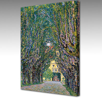 """A1 Gustav Klimt Avenue in the Park Framed Canvas Wall Art Picture Print 30x20"""""""