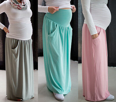 Maternity Casual everyday elegant Maxi Skirt Over Bump size 8 10 12 14