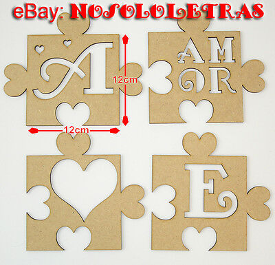 1x PUZZLETRAS LETRAS madera DM PUZZLETTERS MDF wooden LETTERS PUZZLE