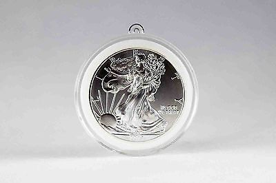 2014 - 1 oz Silver American Eagle Coin with Airtite I-Loop Case White Foam