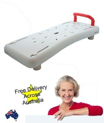 Deluxe Bath Board Bath seat with Grab Handle Free Delivery New