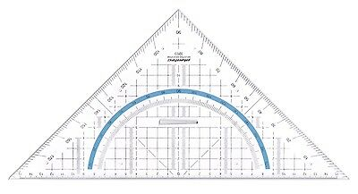 325mm Professional Geometry Set Square Drawing Drafting Triangle Ruler With Grip