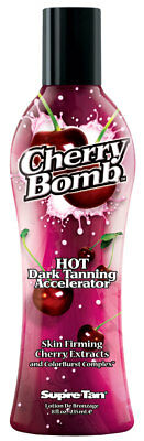 Supre Tan Cherry Bomb Hot Dark Tanning Maximiser with Skin Firming Cherry Extrac