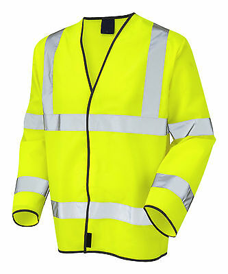 Yellow Hi Visibility Long Sleeve Safety Vest Waistcoat EN471 - High Viz Vis