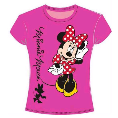 T-Shirt Minnie Disney Bambina Fuxia 2-3-4-5-6 Anni 50106