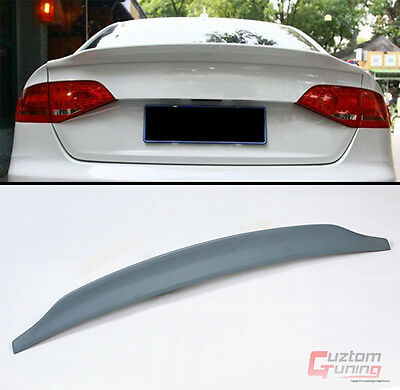 09-2016 Audi A4 B8 B9 Cat Style Polyurethane Pu Primered Trunk Lid Spoiler Wing