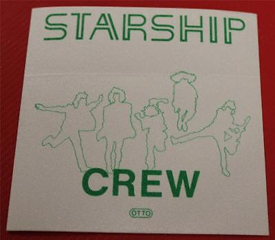Vintage & Genuine OTTO Jefferson Starship Satin Cloth Backstage Pass CREW Green