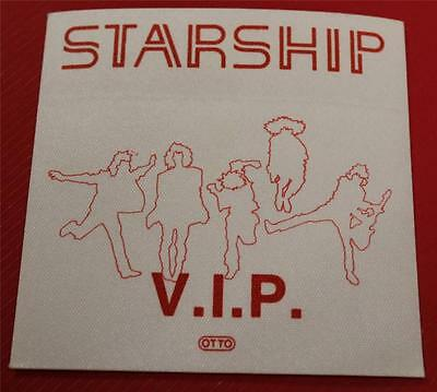 Vintage & Genuine OTTO Jefferson Starship Satin Cloth Backstage Pass VIP Red