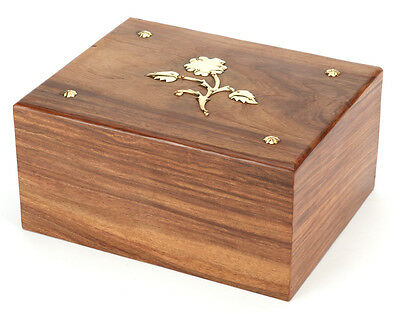 Cremation Ashes Urn /  Ashes Casket SOLID WOOD!!- Hadley 150 CI (UU110013B)