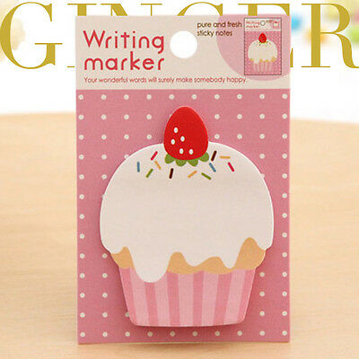 Cupcake Sticker Post It Bookmark Mark Index Tab Memo Notepad Sticky Notes AB01