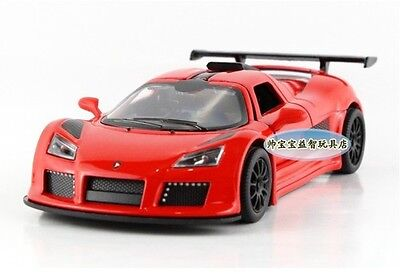 "Kinsmart 1:38 1/38 5"" 12cm Gumpert Apollo Super Sport Car Diecast model Car Red"