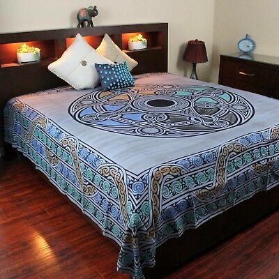 Celtic Wheel of Life Tapestry Throw Tablecloth Spread Wall hang Full Gorgeous