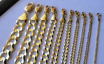 """Authentic 10K Solid Gold Men /women Cuban Link Chain Size16-36"""" Free Shipping"""