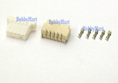 JST-SH 1.0mm 5-Pin Micro Female Connector Male Top Entry Header, Crimps x 30 SET