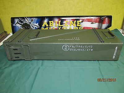 "120MM AMMO CAN 31.5""x 11.25""x 5.5"" TALL EXCELLENT CAN AIRTIGHT STORAGE BOX"