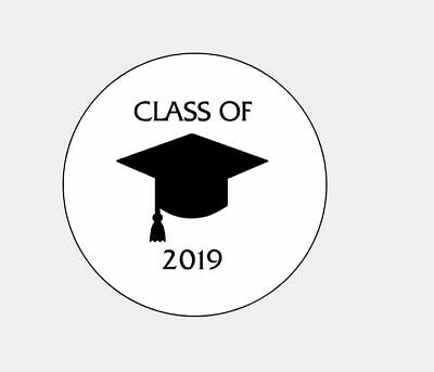 "Personalized Class of 2019 Graduation 1"" Round Envelope Seals Custom Labels"