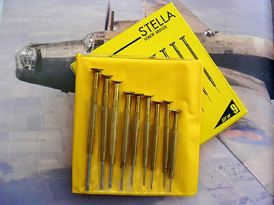 9pc Jewelers Screwdriver set Swiss style watchmaker Hardened Tips IW SUISSE USA